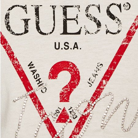 GUESS JEANS T-SHIRT WHITE TOP  ICON TEE SLIM FIT W91I69 K46D0 TWHT